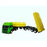 Novo Caminhão Brinquedo Carreta Bitrem Caçamba Construção Ja
