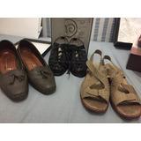 Lote De Zapatos Usados Impecables, Todos Zapatos Bajos