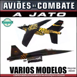 Aviao Combate Jato Guerra Miniatura 1/72 Varios Modelos