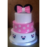 Tortas Decoradas Infantiles Cumple Minnie Mickey Mini Mikey