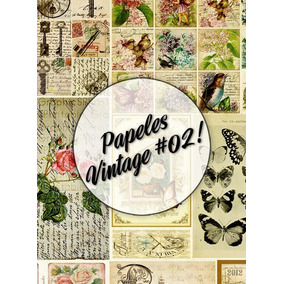 Papeles Vintage #02! Lámina Decoupage Autoadhesiva 30 X 42