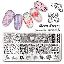 Kit 2 Placas Born Pretty +1 Carimbo + 1 Esmalte