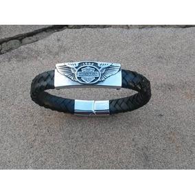 Pulseira Bracelete Harley Davidson Couro