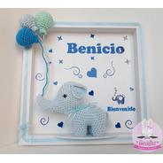 Cuadro De Nacimiento Bienvenida Elefantito Bebé