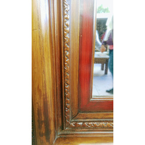 Espejo Antiguo Madera Maciza Restaurado Único