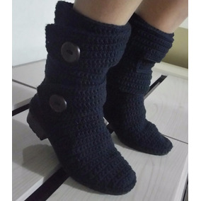 Bota Em Crochê, Solas Pvc, Vários Números E Cores À Escolher
