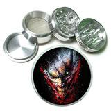 Scary Joker Grin Batman 4pc Aluminio Tabaco Spice Grinder H