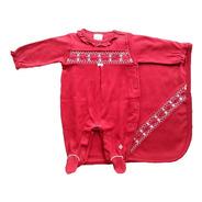 Saída Maternidade Menina - Anjos Baby - Vermelho - 2 Peças