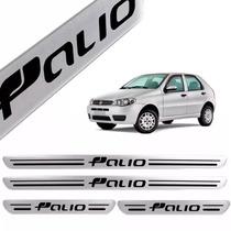 Soleiras Fiat Palio - Preto Acessorio Carro Chevrolet Jogo