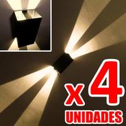 Baliza Señalizadora Tipo Aplique De Pared Luz Fx Pack X4unid