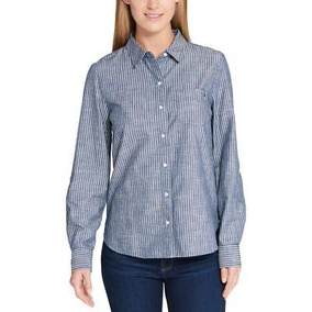 92a74596988 Camiseta Tommy Hilfiger Cuello V Blusa 100% Orig Talla Xs - Ropa y ...