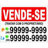 Placa Ps 2mm 50x60 Cm Vende-se/aluga/imobiliarias/corretores