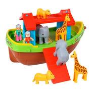 Brinquedo Barco Arca De Noé 22 Peças Maral