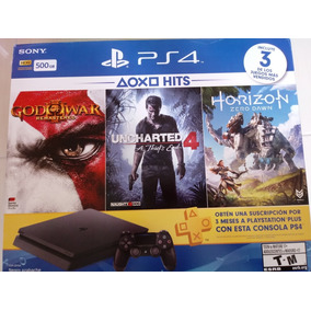 Ps4 Playstation 4 Slim 500gb # 3jogos # Psn Por 3 Meses
