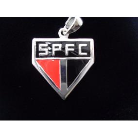 Pingente São Paulo Simbolo Oficial Prata Pura Maciça 925