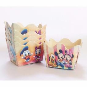 36 Forminhas Caixeta Para Doce Festa Turma Mickey Baby