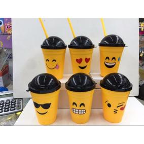 Copo Emoticons Emoji Zap Decoração Plastico