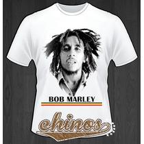 Playera Bob Marley Talla Ch, M, G, Xl, Junior, Chinos