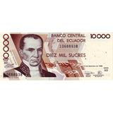 Grr-billete De Ecuador 10000 Sucres 1998, Vicente Rocafuerte