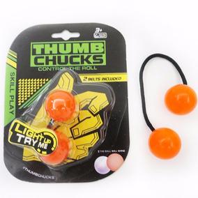 Thumb Chucks Yoyo De Dedo Com Luz Neon Antiestres Spinner