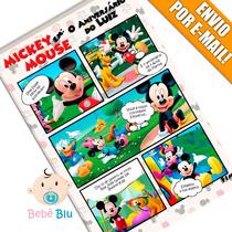 Arte Convite Aniversário Infantil Casa Mickey Mouse Disney