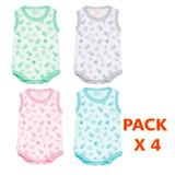 Pack De Bodys X4 Unidades Calidad Envio Gratis Colores