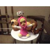 Conjunto Boneca Masha E O Urso. Lindo ( Biscuit)
