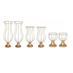 6 Vasos Armação Para Arranjos De Mesas E Decoraçoes De Festa