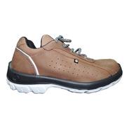 Zapato Zapatilla Seguridad Trabajo Liviana Cuero Hombre