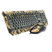 Kit Teclado E Mouse Gamer Warrior Tc249 Kyler Army