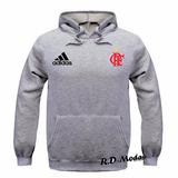 Blusa Moleton Flamengo Moletom Futebol Casaco De Frio