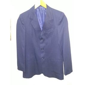 Saco Vestir Niño Azul Marino Talle 14 Impecable