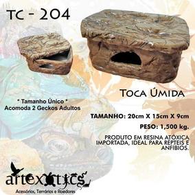 Tc 204, Toca Úmida Para Gecko Réptil Artexotics