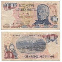 Argentina Billete De 100 Pesos Argentino Bottero 2621