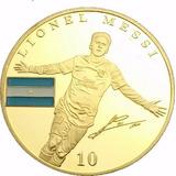 Moneda 1 Onza Lionel Messi Barcelona De Colección Argentina