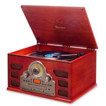 Toca Disco Raveo Tenor - Bluetooth/lp/fm/cd/usb/sd/gravação