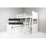 Juego De Dormitorio Cama Puente Mas Cama De Plaza Con Carro