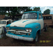 Picap Chevrolet Ano 1963 Sem Caçamba Doc Placa Cinza