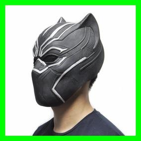 Mascara Pantera Negra Filme Latex Guerra Civil Cosplay