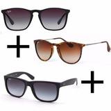 Oculos Rb Chris + Velvete + Justin Pague 1 Leve 3 Promoção