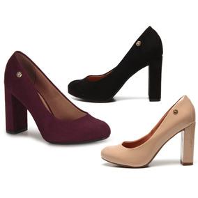 7260c6289f Vizzano Sapato Chanel Preto Salto Feminino - Outros Sapatos no ...