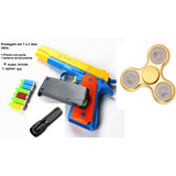 Pistola Semi-automática Com Pente Brinquedo.limitado