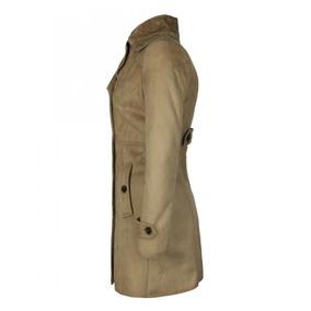 9226142633d2f Abrigo Dama Tipo Gamuza Diseño Acinturado Marca Roosevelt. 3 colores