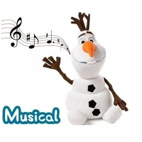 Pelúcia Musical Boneco De Neve Olaf Frozen Disney 24 Cm