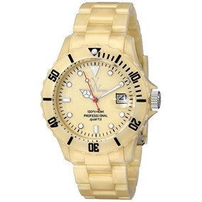 Toywatch Womens Flp02gd Quartz Yellow Dial Plastic Watch