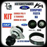 Kit Correa Bomba Agua Y 2 Tensores Ecosport Fiesta Ka 1.6