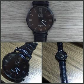 69a464453cd Relógio Calvin Klein Pulseira Em Couro Preta - Relógios De Pulso no ...