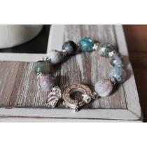 Pulsera Plata 925 Con Piedras|cierre Tiffany |consulte Envío