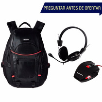 Kit Gamer Mochila Yc600 + Mouse M600 + Diadema P721