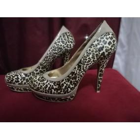 Zapatos De Fiesta Taco Grueso - Stilletos de Mujer Marrón en Bs.As ... b324209207d5